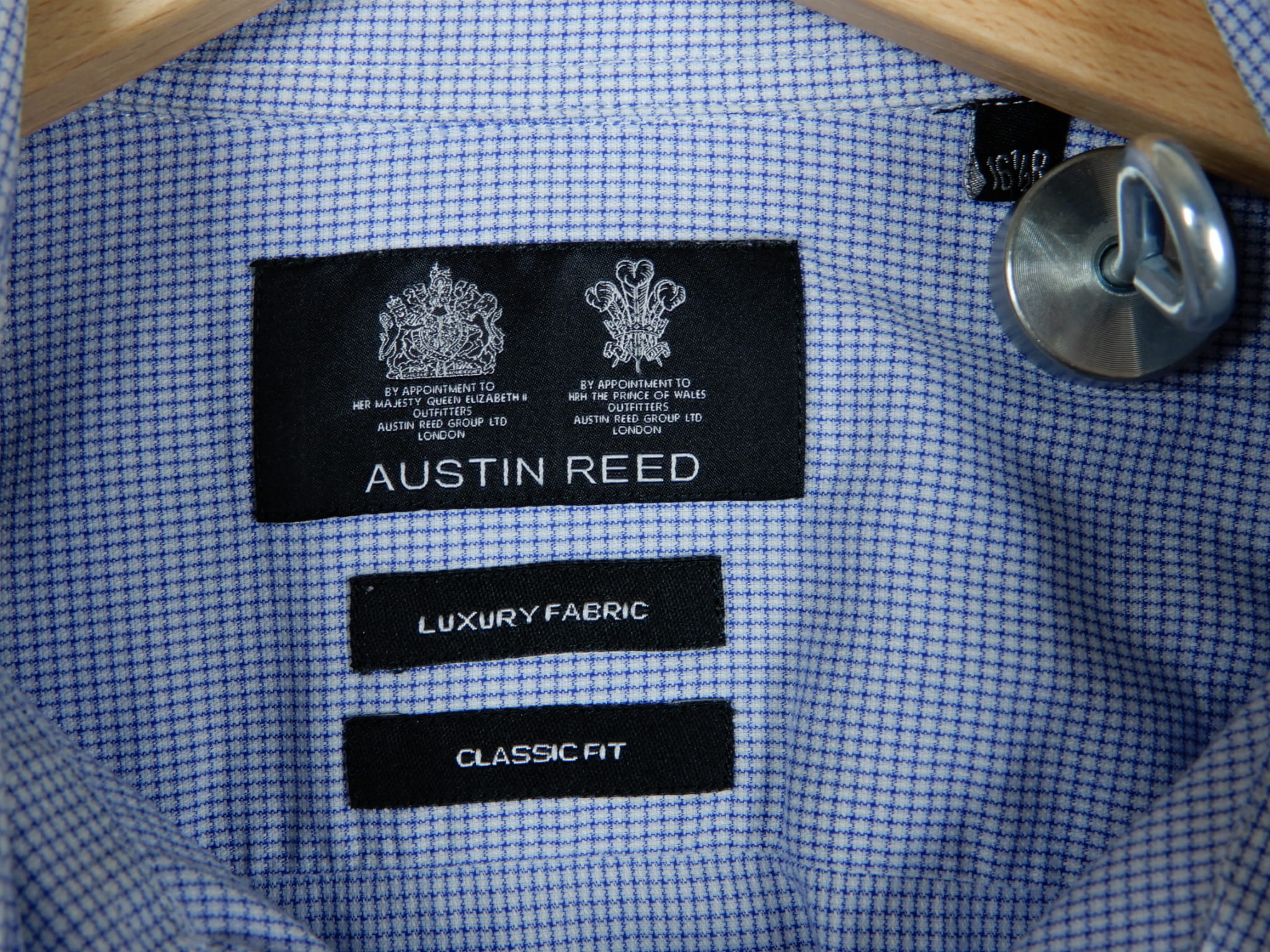 Austin Reed Luxury Fabric Classic Fit Spread Collar Size 16 5r